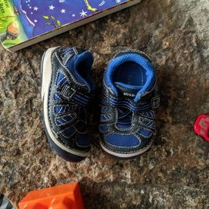 Stride Rite Blue Velcro Toddler Shoes